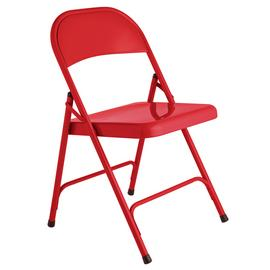 Habitat Macadam Metal Folding Chair - Red