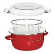 Premier Housewares Enamel Deep Fryer - Red