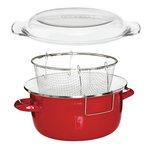 more details on Premier Housewares Enamel Deep Fryer - Red.