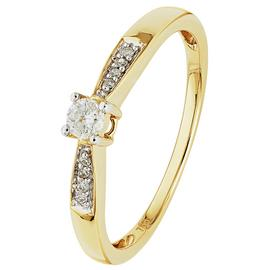 Revere 18ct Gold 0.10ct tw Diamond Solitaire Ring