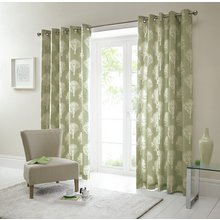 Fusion Woodland Trees Curtains - 117x182cm - Green