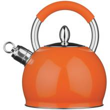 Premier Housewares Stove Top Whistling Kettle - Orange
