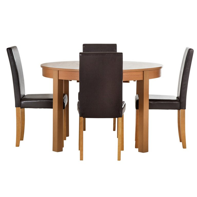 Buy HOME Woodbury Oval Extendable Table and 4 Chairs  : 4365514RSETMain768ampw620amph620 from www.argos.co.uk size 620 x 620 jpeg 26kB