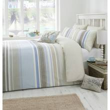 Dreams N Drapes Falmouth Blue Duvet Cover Set - Kingsize