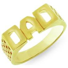 Revere Mens 9ct Gold Plated Sterling Silver 'Dad' Ring