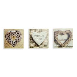 Arthouse Rustic Hearts Boxed Prints - Set of 3