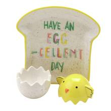 Egg Cup & Toast Plate Set