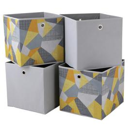 Argos Home Set of 4 Geometric Squares Boxes - Loft Living