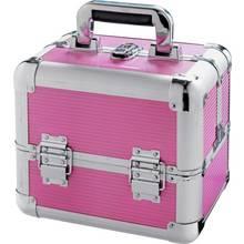 Medium Pink Aluminium Vanity Case