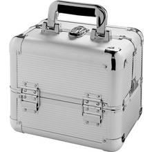Medium Silver Aluminium Vanity Case