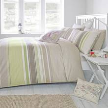 Dreams N Drapes Falmouth Green Duvet Cover - Kingsize