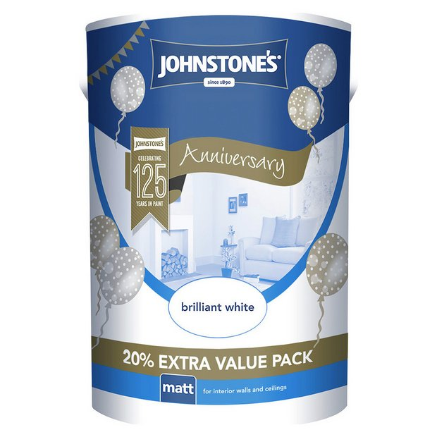 Buy johnstone 39 s brilliant white matt emulsion 6l at your online shop for paint - Johnstones exterior masonry paint set ...
