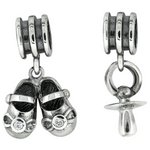more details on Link Up Sterling Silver Baby Drop Charms - Set of 2.