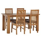 more details on HOME Shepstone Extendable Table & 4 Paris Chairs -Chocolate.