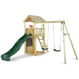 Plum Lookout Tower Wooden Climbing Frame with Swings.