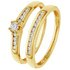 Revere 9ct Gold 0.25ct tw Diamond Bridal Ring Set