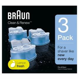 Braun Clean and Renew Cartridges Lemonfresh Formula - 3 Pack