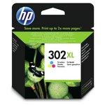 more details on HP 302XL High Yield Tri-colour Ink Cartridge (F6U67AE).