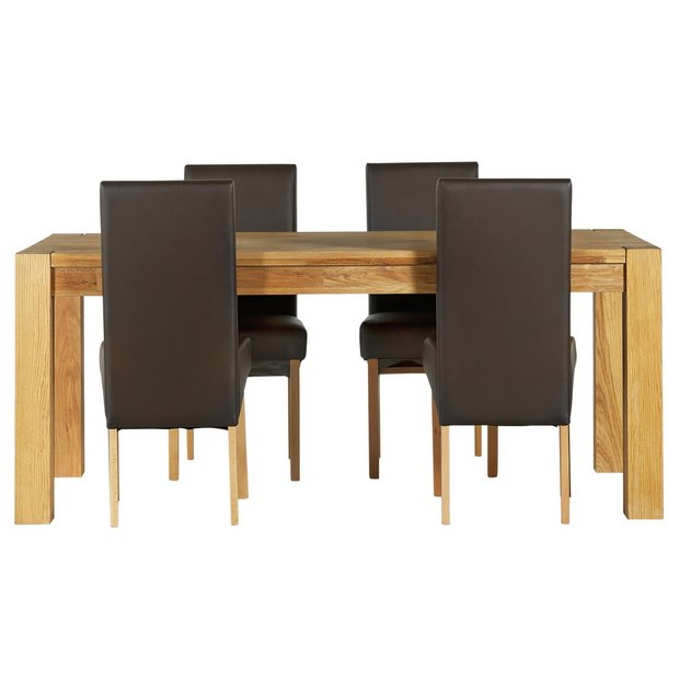 Buy Heart Of House Aspley Wood Table And 4 Skirted Chairs Choc At Your Online