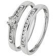more details on 9ct White Gold 0.25ct tw Diamond Bridal Ring Set.