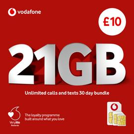 Vodafone Pay As You Go Big Value Bundle SIM Card
