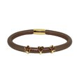 more details on Link Up Single Row Brown Cord Leather Bracelet.