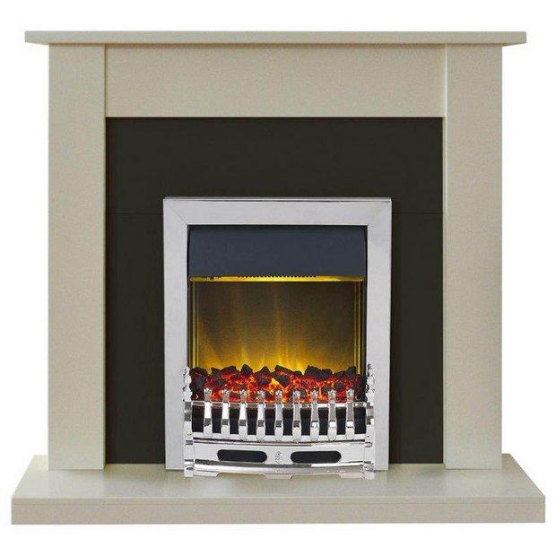 Buy Adam Sutton 2kw Electric Fireplace Suite Cream Black At Your Online Shop