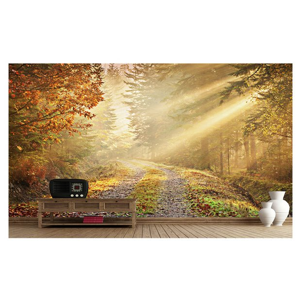 Buy 1wall golden forest wall mural at your for 1wall forest wallpaper mural