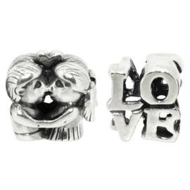 Link Up Sterling Silver Lovers Charms - Set of 2.
