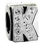more details on Link Up Sterling Silver Alphabet Bead Charm - K.