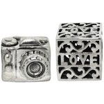 more details on Link Up Sterling Silver Love Photography Charms - Set of 2.