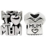 more details on Link Up Sterling Silver No1 Mum Charms - Set of 2.