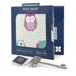 more details on Blue Badge Co Owls Fabric Permit Cover.