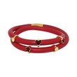 more details on Link Up 2 Row Red Leather Cord Charm Bracelet.