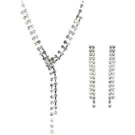 Link Up Diamante Necklace and Earrings Set.