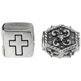 Link Up Sterling Silver Bible and Mystical Charms - Set of 2