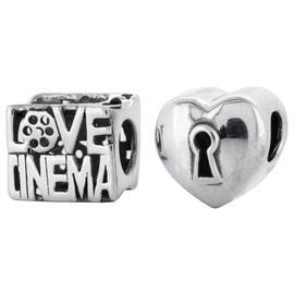 Link Up Sterling Silver Cinema Charms - Set of 2.