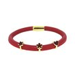more details on Link Up Single Row Red Leather Charm Bracelet.