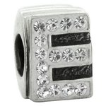 more details on Link Up Sterling Silver Alphabet Bead Charm - E.