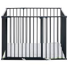 BabyDan Square Metal Playpen - Black.