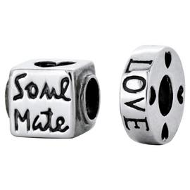 Link Up Sterling Silver Soul Mate Charms - Set of 2