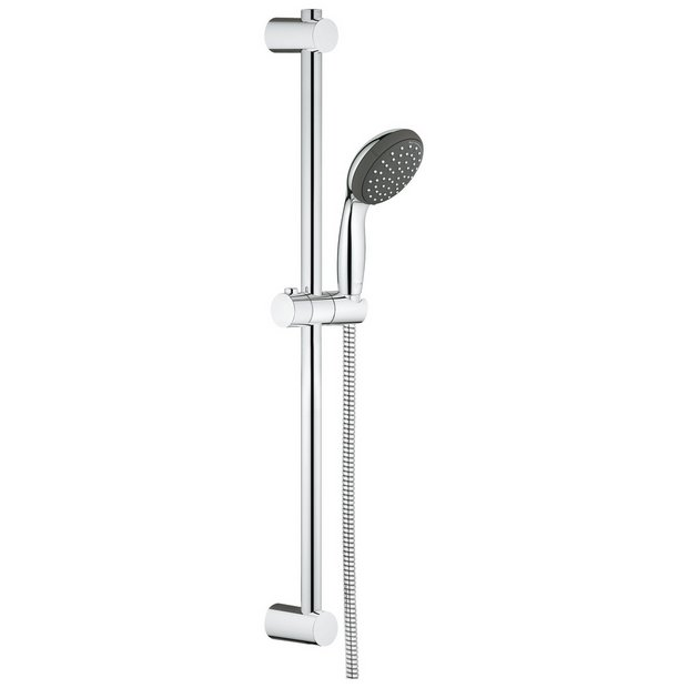 Buy grohe vitalio start 100 metal hand shower and rail at for Grohe vitalio go 100