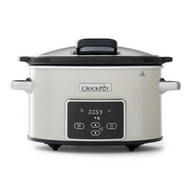 Crock-Pot 3.5L Digital Slow Cooker with Hinged Lid - Cream