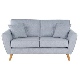 Argos Home Isla 2 Seater Fabric Sofa - Blue