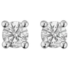 Revere 9ct Gold 0.25ct tw Diamond Solitaire Stud Earrings