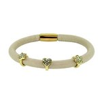 more details on Link Up Single Row Cream Leather Cord Bracelet.