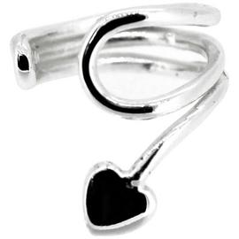 Link Up Sterling Silver Heart Ear Cuff.