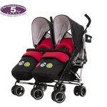more details on Disney Twin Stroller & Footmuffs - Mickey Circles.