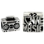 more details on Miss Glitter S.Silver Kids Love Music and Radio Charms - 2.