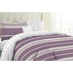 more details on HOME Milan Plum Stripe Bedding Set Bundle - Single.